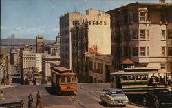 Cable Cars - Crossing at California and Powell Streets