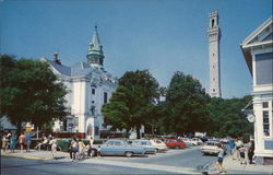 Town Hall and Pilgrim Monument, Commercial Street