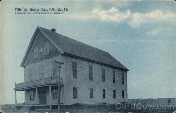Pittsfirld Grange Hall Pittsfield Maine