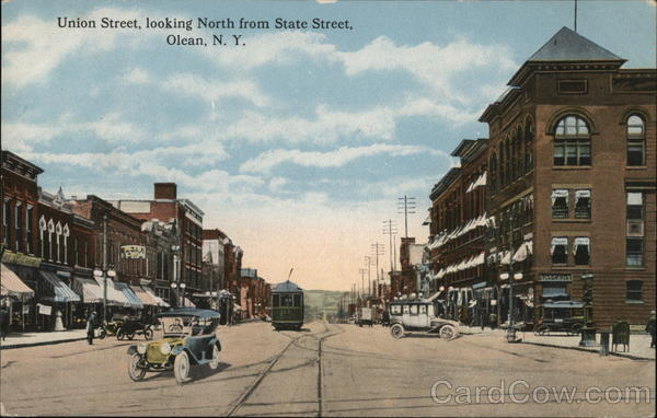 Union Street, Looking North From State Street Olean New York