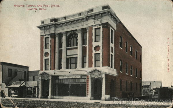 Masonic Temple and Post Office Lawton Oklahoma