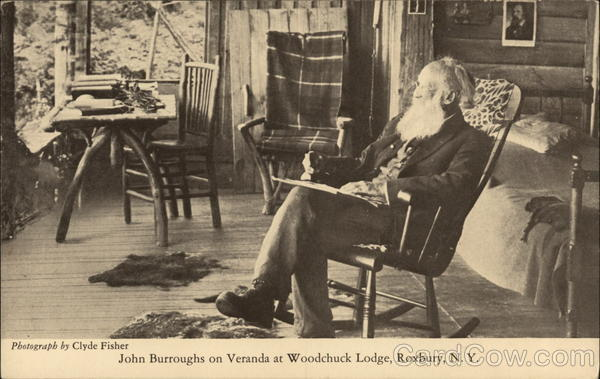 John Burroughs on Veranda at Woodchuck Lodge Roxbury New York