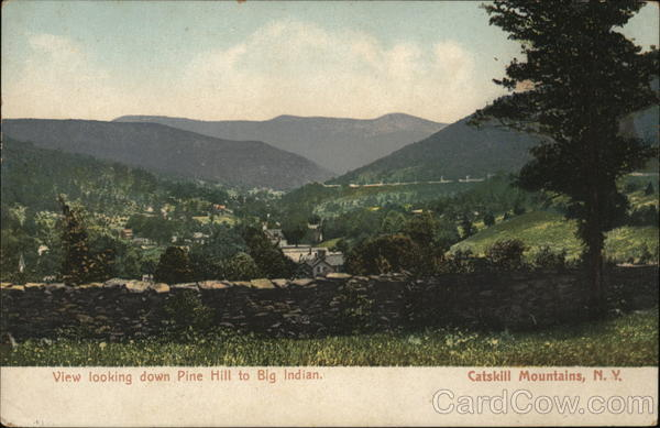 View Looking Down Pine Hill to Big Indian Catskills New York