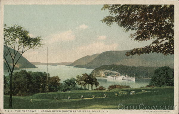 The Narrows, Hudson River North from West Point, N. Y. New York