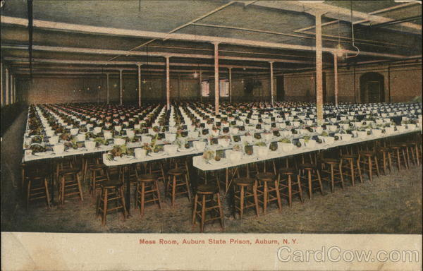 Mess Room, Auburn State Prison New York Prisons