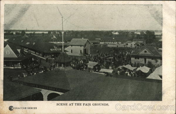 Scene at the Fair Grounds Syracuse New York