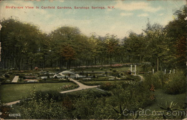 Bird's-eye View in Canfield Gardens Saratoga Springs New York