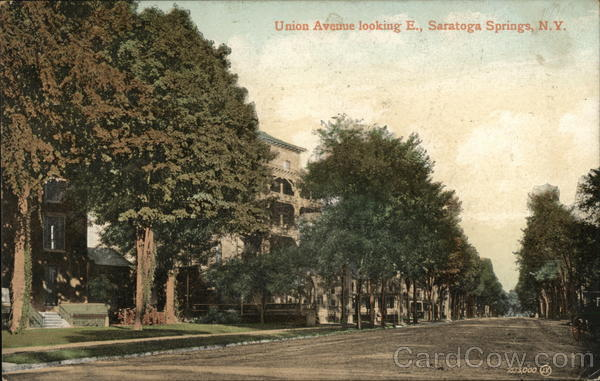 Union Avenue, Looking East Saratoga Springs New York