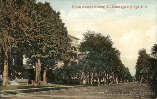 Union Avenue Looking East Saratoga Springs New York