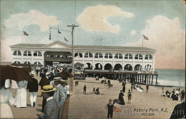 View of Arcade Asbury Park New Jersey