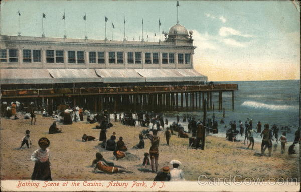Bathing Scene at the Casino Asbury Park New Jersey