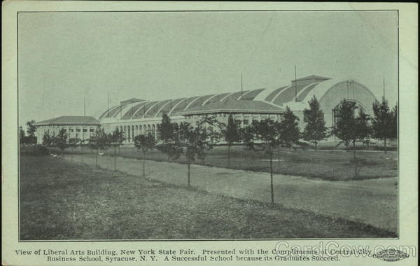 View of Liberal Arts Building, New York State Fair Syracuse