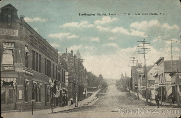 Ludington Street, Looking East Iron Mountain Michigan