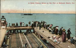 Daily Fishing Scene on the Pier