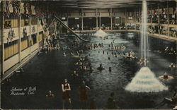 Interior of Bath Redondo Beach, CA Postcard