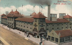 View of Bath House Redondo Beach, CA Postcard