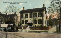 Lincoln Homestead showing Ezra Meeker