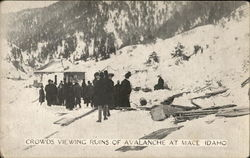 Crowds Viewing Ruins of Avalanche