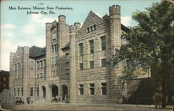 Main Entrance, Missouri State Penitentiary Postcard