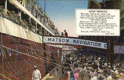 Aloha Honolulu Matson Navigation Co.