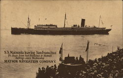 S.S. Matsonia Leaving San Francisco