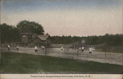 Tennis Courts, Sargent School Girls Camp