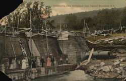 Constructing Lake Switzerland Dam, Catskill Mountains, N. Y.