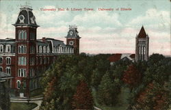 University Hall and Library Tower, University of Illinois