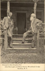 John Burroughs and Henry Ford at Woodchuck Lodge