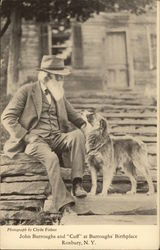 John Burroughs and Cuff at Burroughs' Birthplace