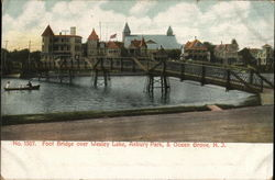 Foot Bridge over Wesley Lake, Asbury Park, & Ocean Grove, N.J.