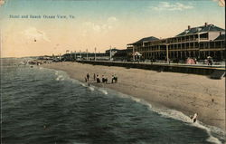 Hotel and Beach Postcard
