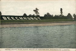 Shore Front with Sandy Beach at Beechhurst, Whitestone Landing