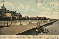 Box No. 310 Boardwalk and Ocean Avenue Postcard