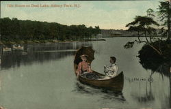 Idle Hours on Deal Lake, Asbury Park, N. J.