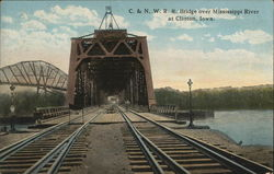 C & N. W. R. R. Bridge over Mississippi River at Clinton, Iowa.
