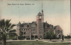 State School for Boys, Whittier, Cal