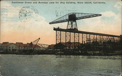 Cantilever Crane and Runway Used for Ship Building