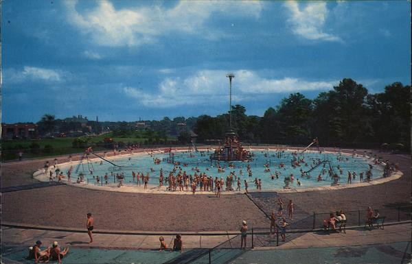 Washington Park Swimming Pool Racine Wi Postcard