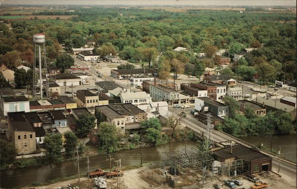 Aerial View of Town Wilmington Illinois
