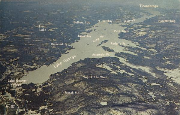 Aerial View of Lake George New York