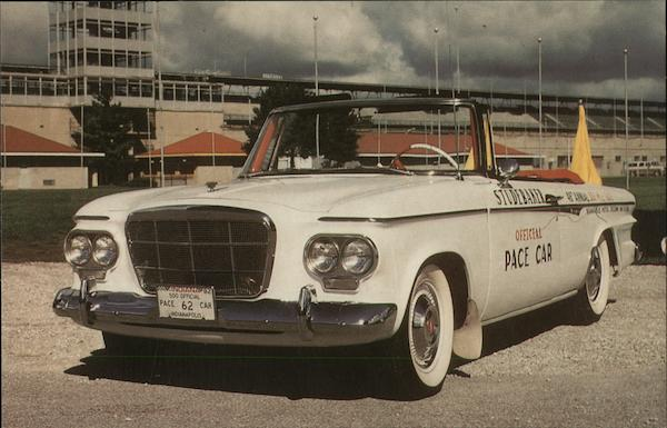 1962 Indianapolis Pace Car - Studebaker Cars