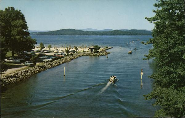 Endicott Rock - Weirs Beach Lake Winnipesaukee New Hampshire