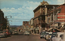 Main Street and Business Section Postcard