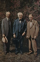 Henry Ford, Thomas Edison, and Harvey Firestone at the Edison Home