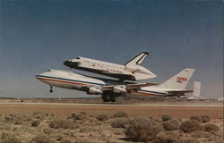Space Shuttle Orbiter Columbia and 747 Shuttle Carrier Aircraft