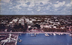 Aerial View of City and Yacht Harbor