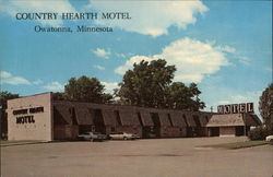 Country Hearth Motel Postcard