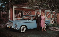 Alan Young, Connie Hines and Studebaker Lark Skytop