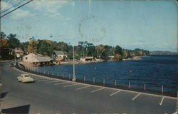 View across the Causeway and Long Lake Postcard